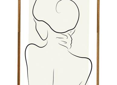 Affiches - Impression d'art Embracing Silhouette - METTEHANDBERG ART PRINTS