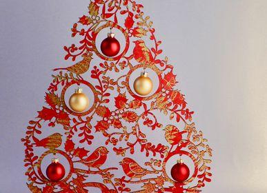 Décorations de Noël - décoration de table arbre de noël branches de gui, 40 cm - KOELNSCHAETZE