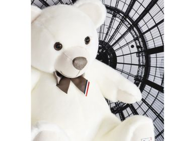 Soft toy - MAILOU TRADITION BEAR 55 cm - White - MAILOU TRADITION - DOUDOU ET COMPAGNIE