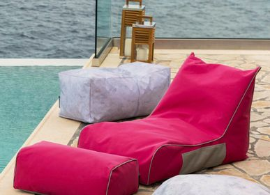 Outdoor fabrics - BEAN BAG LOUNGE  - POUFOMANIA