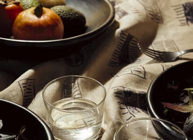 Kitchen fabrics - PRINTED LINEN TABLECLOTH FENÊTRE SUR COUR - MAISON LEVY