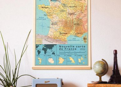 Other wall decoration - Poster New map of France vintage - PAPPUS ÉDITIONS