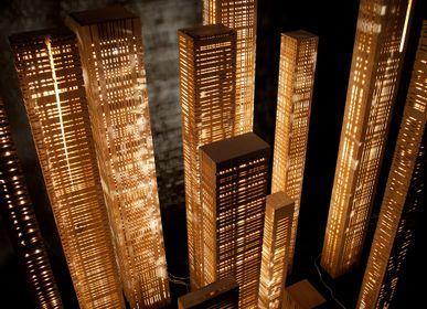 Éclairage nomade - Aperception Set: 13 colonnes - LAMPES EN BOIS - GILLES ANSEL