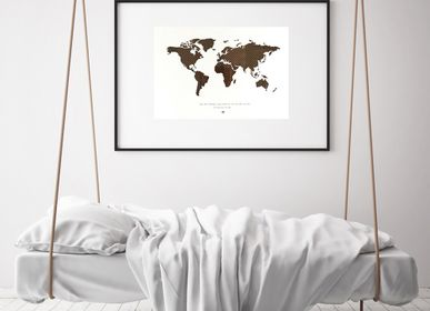 Children's bedrooms - MusicCloth® World map art decor weaved of discarded Cassette tapes - REHYPHEN