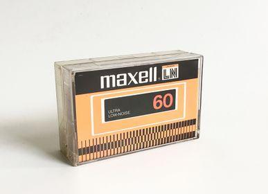 Papeterie - MusicCloth® Carte à jouer tissée de cassettes [Doré, argent, noir] - REHYPHEN