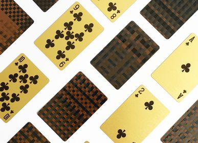 Stationery store - MusicCloth®  Gold Playing Cards  weaved out of Cassette tapes  - REHYPHEN