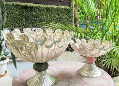 Bowls - PALM BOWL SILVERWARE - INDIA - BESPOKE HOME JEWELS BY MINJAL J