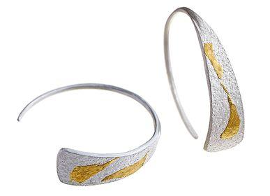 Goldsmithing - Semi circle earrings - CHIARA DE FILIPPIS
