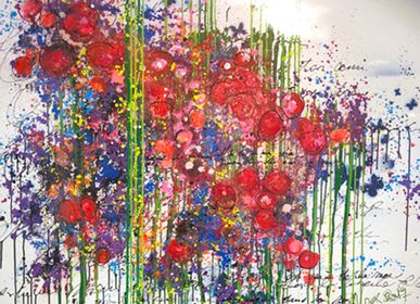 Paintings - Painting of Intuitive #9 - JEAN FONTAN