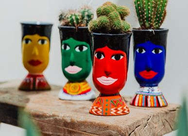 "Pottery - Pot ""giant head"" from Guatemala - TIENDA ESQUIPULAS"