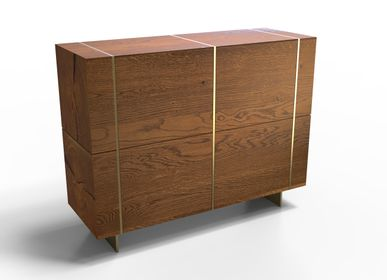 Buffets - Nature Elegance Organic-Legged Media Commode - THEV
