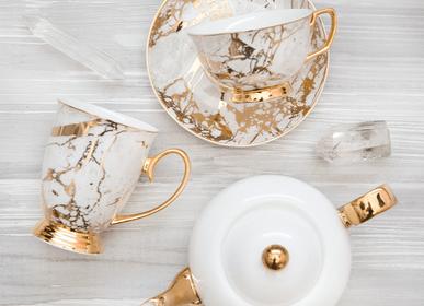 Accessoires thé / café - Tasse à thé et soucoupe Célestite Blanc - CRISTINA RE