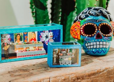 Party decorations - Mexican Skeleton Boxes - TIENDA ESQUIPULAS