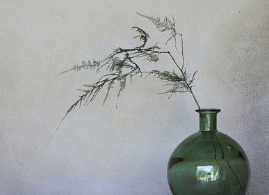Verre d'art - Green Bubble Bottle - NAMAN-PROJECT