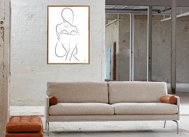 Poster - Sitting Silhouette  Art print  - METTEHANDBERG ART PRINTS