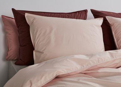 Bed linens - PERCALE COTTON bedlinen Red/Cognac - SUITE702