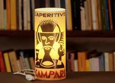 Objets design - Lampe Cylindrique Affiche - ABAT BOOK - ART FRIGÒ