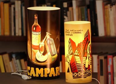 Design objects - Cylindrical lamps with Afffiche - ABAT BOOK - ART FRIGÒ