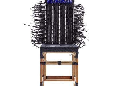 Chairs - Rojjarnar (Dot pattern, black seat, Blue head) - KITT.TA.KHON