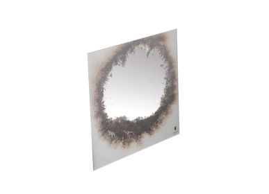 Art glass - WALL DECORATIVE MIRROR: SILVER DROP - ANTIQUE MIRROR