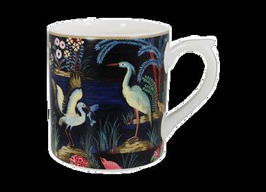 Accessoires thé et café - Mug fond noir - Jardin du Palais - GIEN