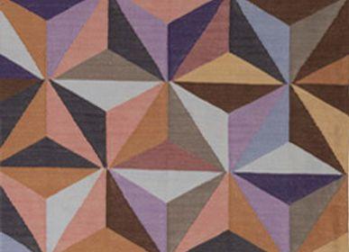 Design - Dhurrie en coton moderne du milieu du siècle - AZMAS RUGS