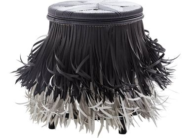 Tabourets - Hula (Black white, Black seat) - KITT.TA.KHON