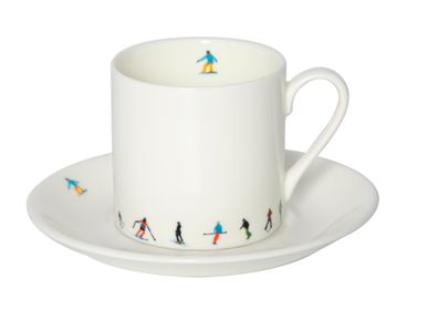 Tea and coffee accessories - Ski Chain Espresso Cup and Saucer  - POWDERHOUND