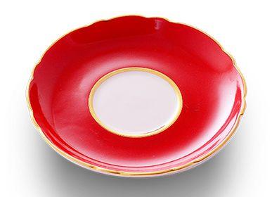 Formal plates - PORCELAİNE SAUCER - LALE DEVRI ISTANBUL