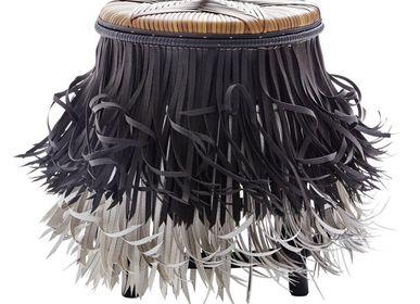 Stools - Hula (Black white, Brown seat) - KITT.TA.KHON