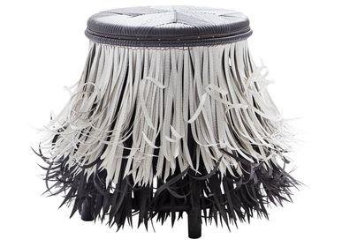 Stools - Hula (White Black, Black seat) - KITT.TA.KHON