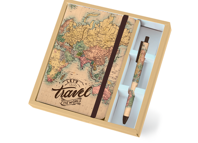 Creative Hobbies - Old Map Set (Notebook A5 + Blue Pen) - XL1812 - I-TOTAL