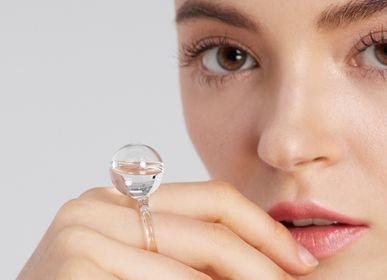 Bijoux - Petite gouttelette en anneau en verre  - LAJEWEL