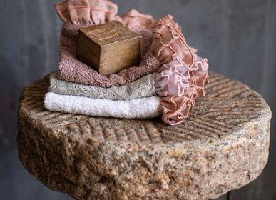 Bath linens - GITANE BATH TOWEL COTTON TERRY AND LINEN RUFFLES - BORGO DELLE TOVAGLIE