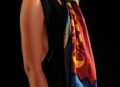 Scarves - Silk Literary scarves  - ABAT BOOK - ART FRIGÒ