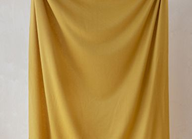 Throw blankets - Lambswool Blanket in Mustard - THE TARTAN BLANKET CO.