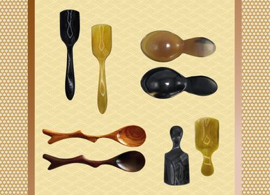 Cutlery service - Wood & Horn Tea scoops - ZAOZAM