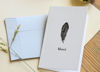 Stationery store - Mini Double Cards for Small Intentions with Letterpress Envelope - PAPPUS ÉDITIONS