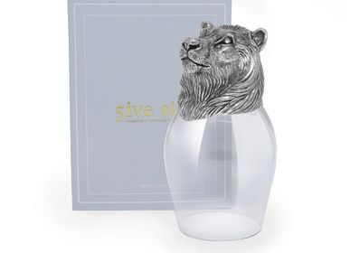 Crystalware - Lion Wine glass - 5IVE SIS
