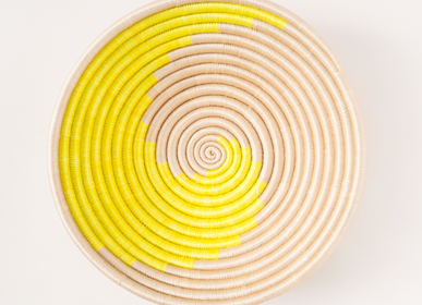 Decorative objects - Citron Swirl Plateau Bowl by Indego Africa - NEST