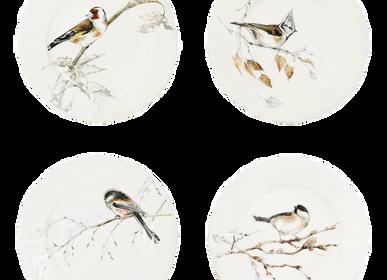 Accessoires thé et café - Assiettes canapés assorties - Oiseaux de la Forêt - GIEN