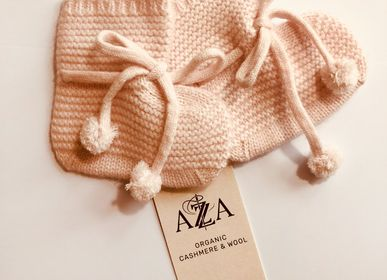Children's dress-up - Baby slipper socks in cashmere, Mongolia  - AZZA DESIGN STUDIO ORGANIC CASHMERE MONGOLIE