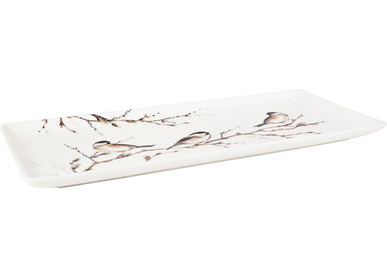 Plats/saladiers - Plat à cake - Oiseaux de la Forêt - GIEN