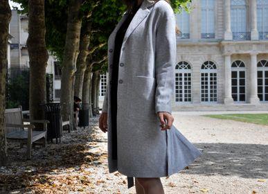 Prêt-à-porter - Manteau femme sur mesure en cachemire ou laine  - AZZA DESIGN STUDIO ORGANIC CASHMERE MONGOLIE