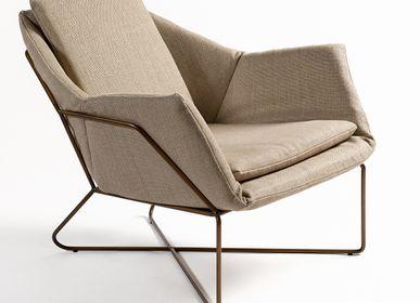Loungechairs for hospitalities & contracts - ARMCHAIR 6069ME - CRISAL DECORACIÓN