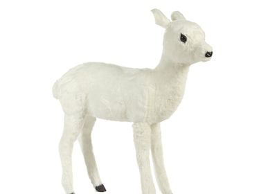 Christmas decoration - FURRY BABY DEER BAMBI TT WH 90CM - GOODWILL M&G