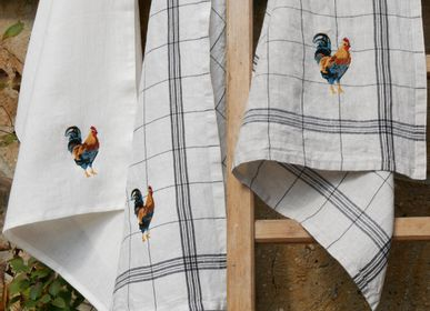 Tea towel - EMBROIDERED TEA TOWELS - CHARVET EDITIONS