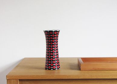 Bowls - Red Teleport Slim Vase Medium - SYNCHROPAINT