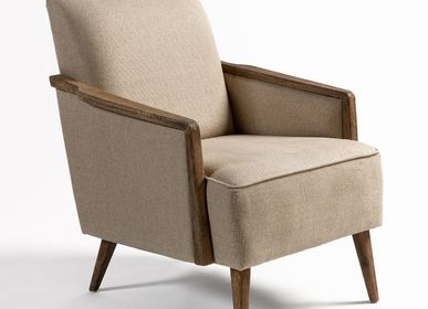 Loungechairs for hospitalities & contracts - ARMCHAIR 7007-OAK - CRISAL DECORACIÓN