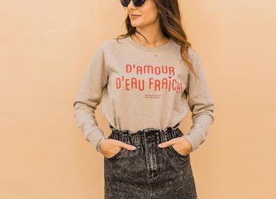 Ready-to-wear - Sweatshirt D'AMOUR ET D'EAU FRAICHE - WAY CUSTOM